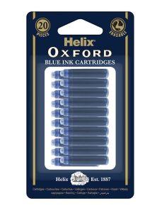 Oxford Ink Cartridge x20 Box Blue